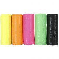 Soft Clay, H: 9,5 cm, neon kleuren, 400 gr/ 1 emmer