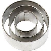 Uitstekers, rond, afm 40x40 mm, 3 stuk/ 1 doos