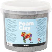 Foam Clay®, metallic, zilver, 560 gr/ 1 emmer
