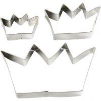 Uitstekers, kroon, afm 13,3x7,5 cm, 3 stuk/ 1 doos
