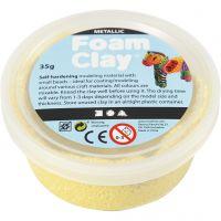 Foam Clay®, metallic, geel, 35 gr/ 1 Doosje