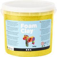 Foam Clay®, metallic, geel, 560 gr/ 1 emmer