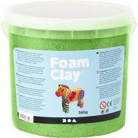 Foam Clay®, metallic, groen, 560 gr/ 1 emmer