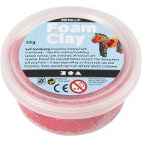 Foam Clay®, metallic, rood, 35 gr/ 1 Doosje