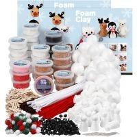Klassenset voor Pooldieren met Foam Clay®, diverse kleuren, 1 set