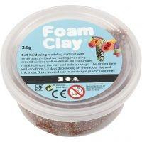 Foam Clay®, bruin, 35 gr/ 1 Doosje