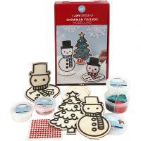 Sneeuwpop met kerstboom, 1 set