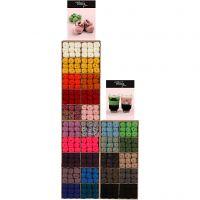 Melbourne garen, H: 3x820 mm, B: 400 mm, diverse kleuren, 300 eenh./ 1 doos