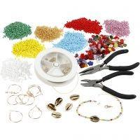 Kits – Sieraden maken met rocailles, verguld, 1 set