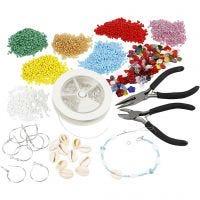 Kits - Sieraden maken met rocailles, verzilverd, 1 set