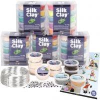 Klassenset voor figuren met Silk Clay®, 1 set