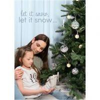 Inspiratieposter, Winterse Kerst, afm 21x30+29,7x42+50x70 cm, 4 stuk/ 1 doos