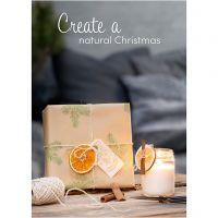 Inspiratieposter, Natuurlijke Kerst, afm 21x30+29,7x42+50x70 cm, 4 stuk/ 1 doos
