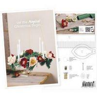 Inspiratiekaart, Adventkrans gemaakt van crepepapier, A5, 14,8x21 cm, 1 stuk