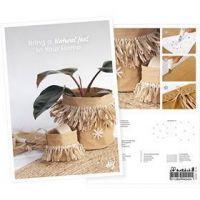 Inspiratiekaart, Wees creatief met 100% plantaardige vezels, A5, 14,8x21 cm, 1 stuk
