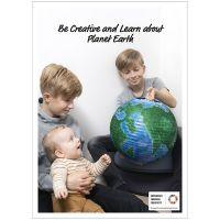 Inspiratieposter, Creëer en leer over planeet Aarde, 50x70, 29,7x42, 21x30 cm, 4 stuk/ 1 doos
