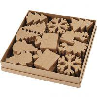 Wintervormen, H: 10-14 cm, 6x6 stuk/ 1 doos
