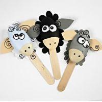 Grappige styropor schapen