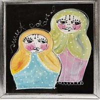 Babushka's schilderen