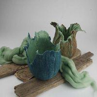 Potten van wol
