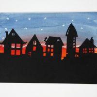 Silhouette kunst van zwart karton