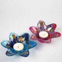 Waxinelichtje in bloemvorm met decoupage