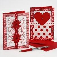 Kerstkaarten van handgemaakt papier