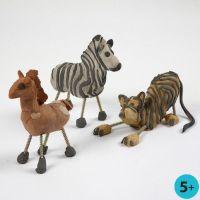Wilde dieren van zelfhardende klei