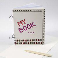 Een zelfgemaakt scrapbook