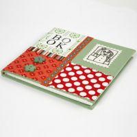 Een notitieboek gedecoreerd met organische katoenstof