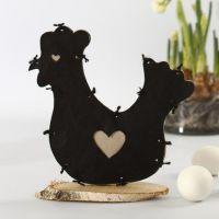 Een kip van imitatiestof