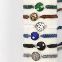 Gevlochten armband met cabochon