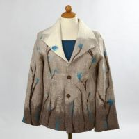 A Jacket made from soft felted Merino Wool