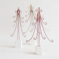 A Christmas Tree from coloured Aluminium Wire on a Cernit Stand