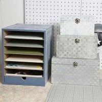 Opslag unit en een doos geverfd in Vintage Look