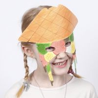 Kartonnen masker gedecoreerd met Colortime stiften