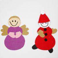 Engel en kabouter gemaakt met Hobbybox kerstmaterialen