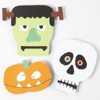 Kartonnen figuren voor Halloween