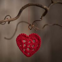 Klein hart gehaakt met katoengaren