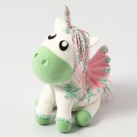 A Silk Clay Unicorn with Wings