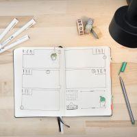 Bullet journal gebruikt als kalender