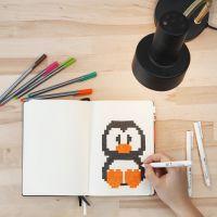 Pixel Art in een Bullet Journal