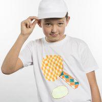 T-Shirt gedecoreerd met sportief thema met transfer papier