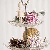Gevlochten kerststerren met drum- en ruitmotief