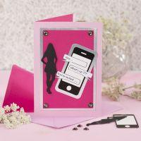 Uitnodiging voor communiefeest met smartphone design