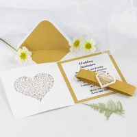 Uitnodiging voor huwelijk met goud