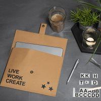 Faux Leather Papier tas met Rub-on stickers