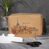 Make-up tas van Faux Leather papier gedecoreerd met transfer papier