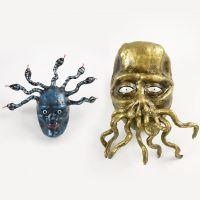 Medusa en het tentakelmonster van papier-mache
