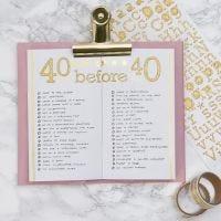 Bucket List voor  Bullet Journal en Planner